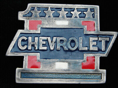 QF03134 VINTAGE 1970s **CHEVROLET #1** CAR & AUTO ADVERTISEMENT BELT BUCKLE