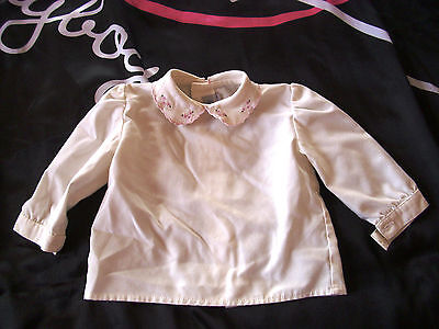 Vintage 1983 baby girls designer blouse by RIBEL age 3 mnths Royal Family style
