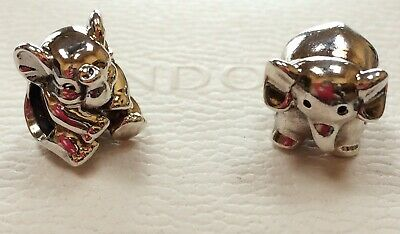(2) Authentic PANDORA RETIRED ELEPHANT 790480 & LUCKY ELEPHANT 791902