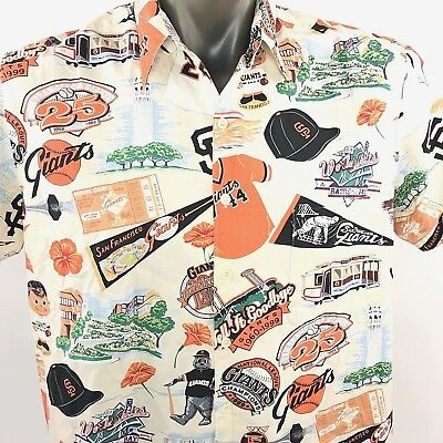 801640c1 Reyn Spooner Exclusive Mens San Francisco SF Giants MLB Size L Hawaiian  Japan