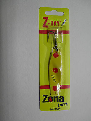 Z-Ray 1//4 oz Yellow with Red Spots Fishing Lure