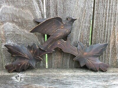 Antique German Black Forest Cuckoo Clock Crown Topper