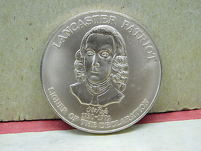 1730 - 1799 Signer of the Declaration USA  RED ROSE COIN CLUB 1976 MEDALLION ~