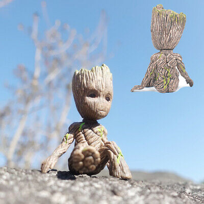 "2"" Cute Guardians of The Galaxy Vol. 2 Baby Sitting Groot Action Figure Gift Toy"