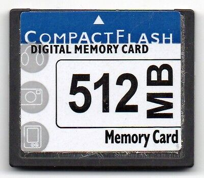 512MB Compact Flash Digital Memory Card Unbranded.