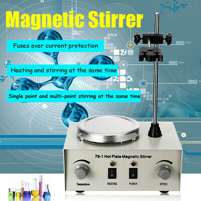 79-1 Laboratory 1000ml Dual Control Hot Plate Magnetic Stirrers Stirring Mixer
