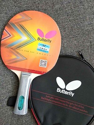 Butterfly Table Tennis Paddle / Bat with Case: TBC202, TBC-202, New, UK