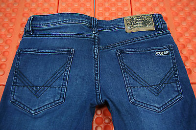 Volcom Vorta Slim Jeans Boys Mens Low Rise Size 26X26 Stretch Straight Leg