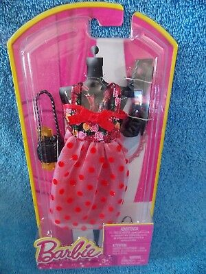 2013 International Spanish Barbie Fashion Party Dress With Floral Red Dot Set