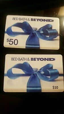 $60 in GIFT CARDS BED BATH & BEYOND Free Shipping!