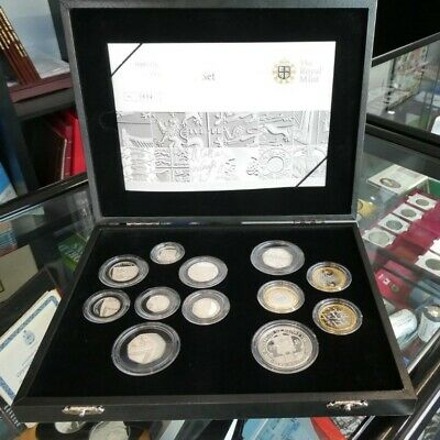 The 2009 UK Silver Proof Coin Set Kew Gardens 50p Royal Mint Very Rare