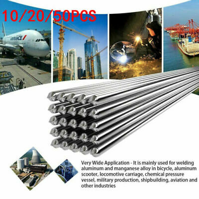 2x500mm Low Temperature Aluminium Welding Soldering Brazing Repair Rods 50PCS