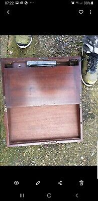 Small Size Antique Victorian Two Drawer Writing Table For Restoration