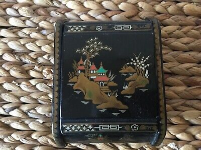 Art Deco /1950's Metal Box. Oriental Design. Made in Great Britain.