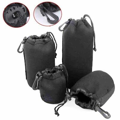 DSLR Camera Soft Lens Covers Pouch Case Padded Bag Set S M L XL Protector New