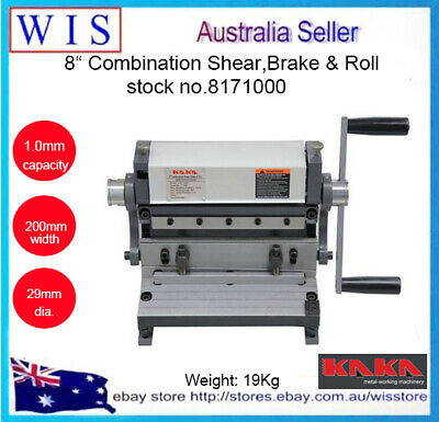 "3 in 1 8""(200mm) Combination Sheet Metal Brake, Shear and Roll-8171000"