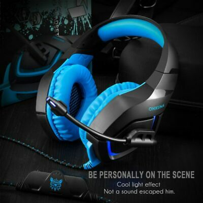 ONIKUMA K1 Stereo-Bass Surround Gaming Headset with Mic for PS4 Xbox One PC