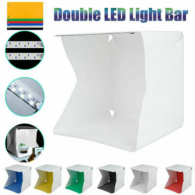 Foldable Mini Studio Photography LED Light Box Tent Kit with 6 Color Backgrounds