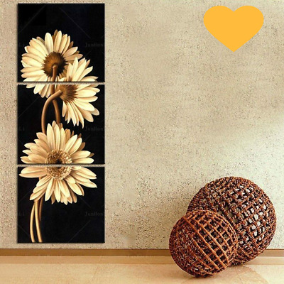 3 Panels Modern Modular Pictures Home Decoration Wall Art Canvas Prints Flowers