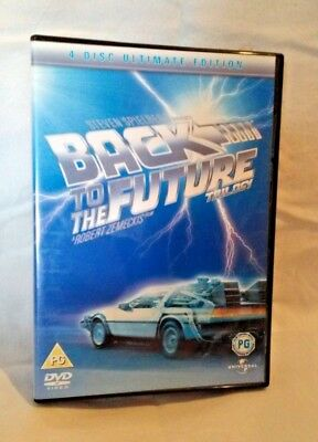 Back To The Future Trilogy DVDs 4 Disc Ultimate Edition DVDs VGC