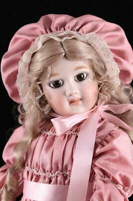 French Bebe Doll Antique Close Mouth Repro Compo Body Pierce Ear Andre Thuillier