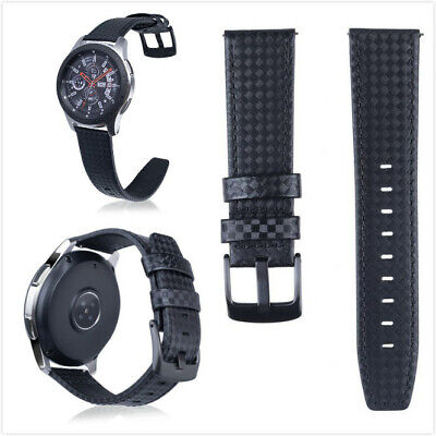 3fd503bac 22mm Carbon Fiber Leather Watch Band Strap for Samsung Galaxy Watch / Gear  S3