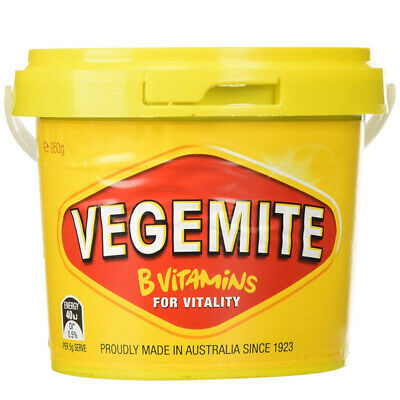 KRAFT VEGEMITE TUB JAR AUSTRALIAN MADE VEGAN KOSHER HALAL SANDWICH SPREAD 950g