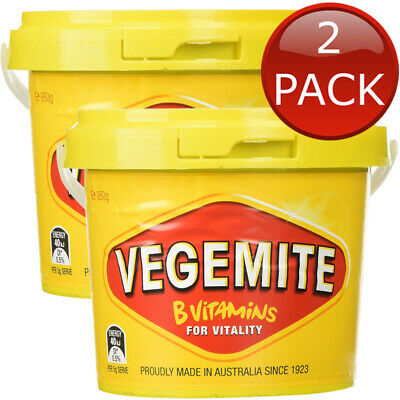 2 x KRAFT VEGEMITE TUB JAR AUSTRALIAN MADE VEGAN  HALAL SANDWICH SPREAD 950g
