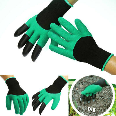 Garden Gloves For Digging&Planting with 4 ABS Plastic Claws Gardening Hot MRG