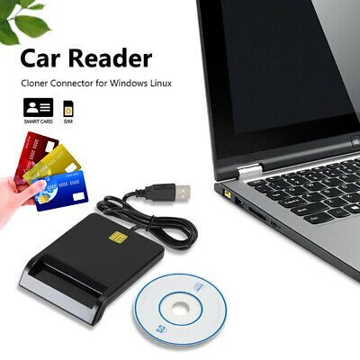 Smart Card reader USB CAC Common Access CardReader Military ID ATM IC SIM
