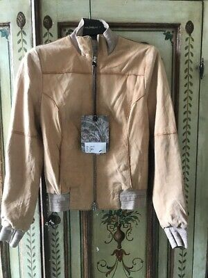 Vintage De Luxe giacca in camoscio Leather jacket bomber nabuk tg 42 nuova new
