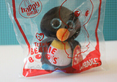 WADDLE PLÜSCH-PINGUIN-FIGUR McDONALD's HAPPY MEAL ty BEANIE BOOS NEU & OVP