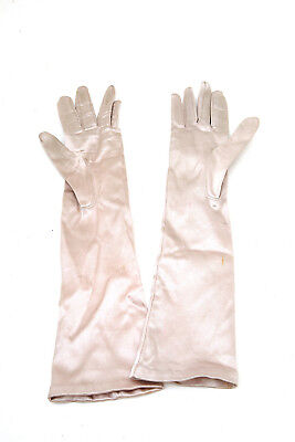 Vintage 50's Satin Pink  Small  Evening Gloves