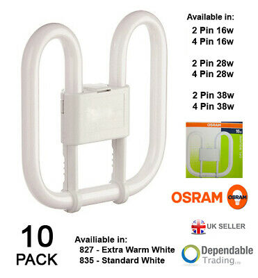 10 x OSRAM 2D ENERGY SAVE CFL Square Fluorescent 16w 28w 38w - 2 / 4 PIN 827/840