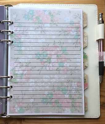 Filofax A5 Organiser Planner - Beautiful Paper with Lines - set of 20