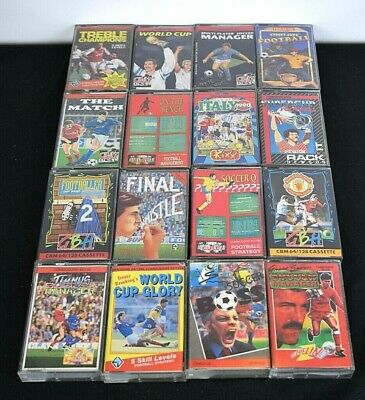 Bundle F - Job Lot - 19 Games for Commodore 64 -  Cassettes (Football Themed)