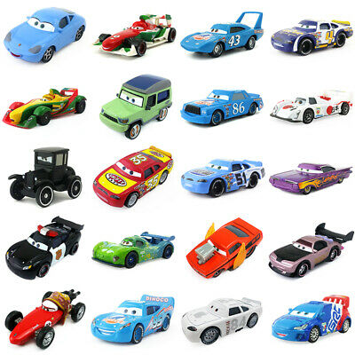 Pixar Cars 2 & 3 McQueen Racing Family Diecast Toy Car 1:55 Loose Gifts For Kids