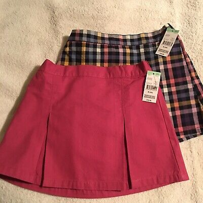0bbc8e47ed Toughskins Girls Pleated Skirts 1 Pink & 1 Blue Plaid Size 5/6 NWT $16