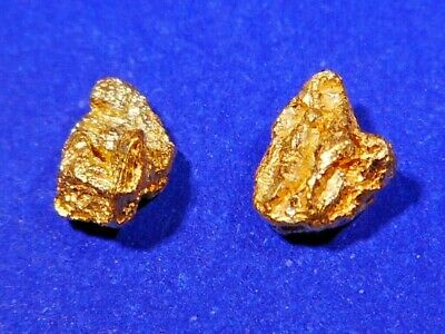 Two Sparkling  Australian Gold Nuggets ( 0.55 grams ).