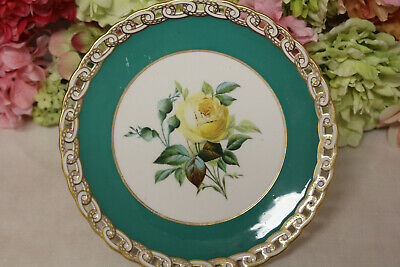 Minton, English Porcelain Hand Painted Dessert Set with Flowers - Compote #1