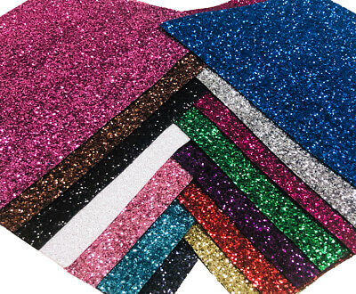 Premium Chunky Glitter Fabric A4 A5 Sheets Sparkly Vinyl Craft Wall Decor Bow