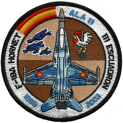 Parche F-18 Hornet Ejército Aire España Spanish Air Force Military Patch Army