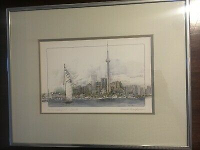 Toronto Waterfront Art – Signed by Gerard Paraghamian with Stock Number info
