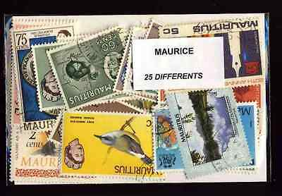 Maurice - Mauritius 25 timbres différents