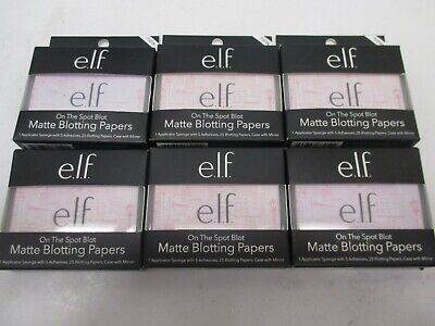 6 Elf On The Spot Blot Matte Blotting Paper 25 Each  Aa 20108