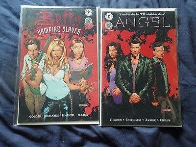 Buffy The Vampire Slayer #21 & Angel #7 Dynamic Forces Red Foil Covers