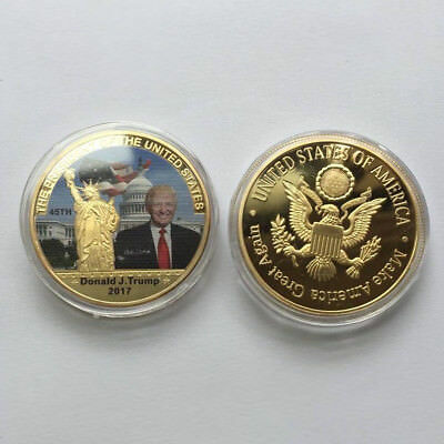 Donald Trump J Coin Make America GREAT 45th President Liberty White House Gold