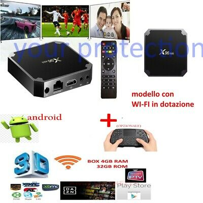 Tv Box  Smart Ip X96 Mini Pro Android 7.1 4Gb Ram 32Gb 4K Wireless Wifi Veloce