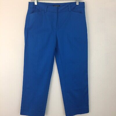 "NWT Jones New York Stretch Capri Pants 6P 6 Petite Turquoise Blue 22.5"" Inseam"