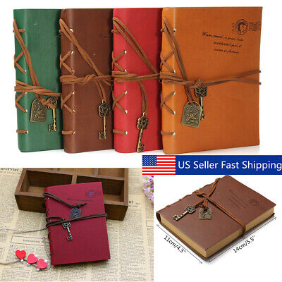 Retro Vintage Classic Leather Journal Travel Notepad Blank Book Diary Notebook